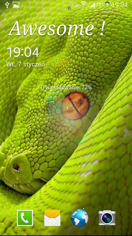 Snake Live Wallpaper - screenshot