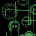 Neon Clock GL Live wallpaper icon