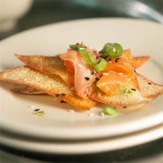 Salmon Carpaccio with Wasabi