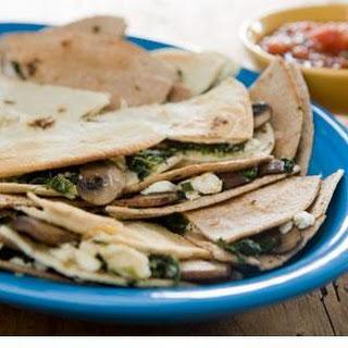 Spinach-Mushroom Quesadillas with Feta
