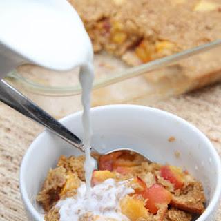 Peaches & Cream Baked Oatmeal