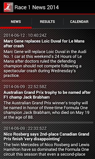 Race 1 News 2014