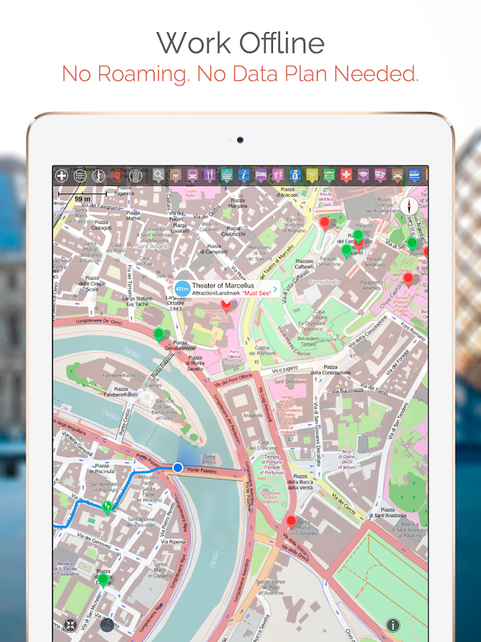 Florence Map and Walks Android Apps on Google Play – Florence Tourist Attractions Map