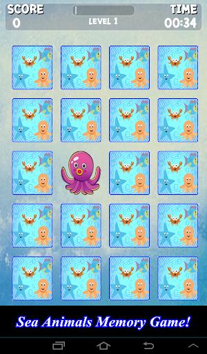 Sea Animals Memory Game Kids