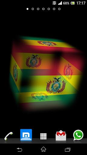 3D Bolivia Cube Flag LWP