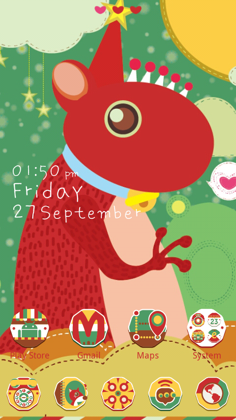 Sweet Cub GO Launcher Theme - screenshot