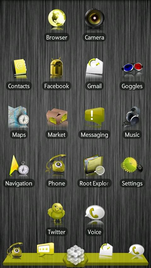 Yellow ADW Theme- screenshot