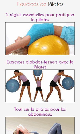Exercices de Pilates
