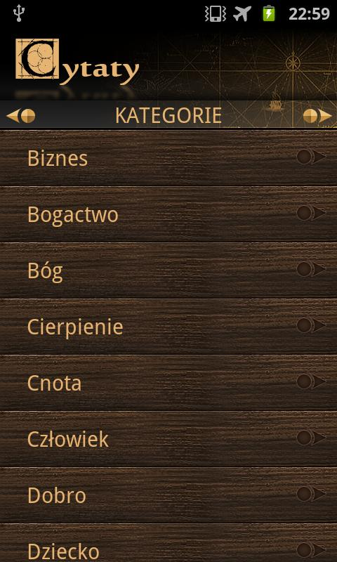 Cytaty- screenshot
