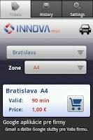 Screenshot of SMS Parkovací lístok