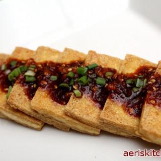 Korean Fried Tofu Side Dish.