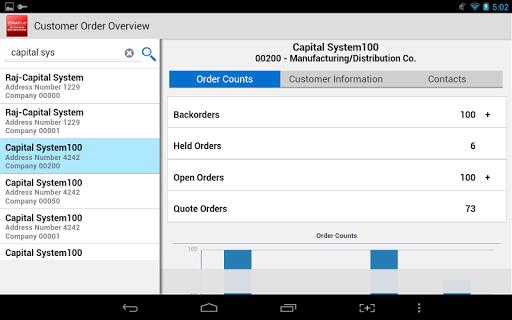 Customer Orders - JDE E1