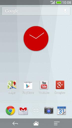Flat design clock R -MeClock