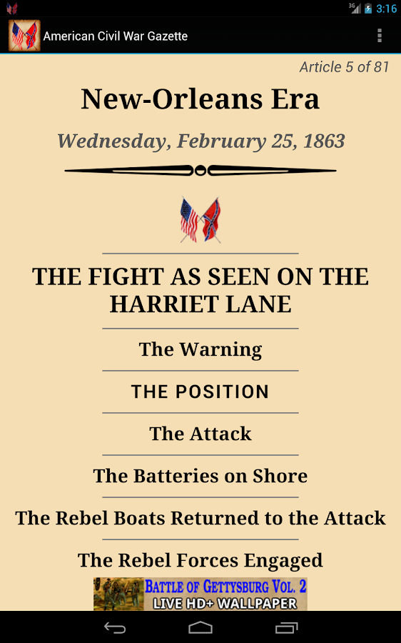 1863 Feb Am Civil War Gazette- screenshot