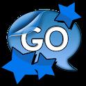 Go SMS Pro Theme Blue Stars logo