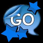 Go SMS Pro Theme Blue Stars