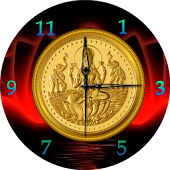 Gold Coin Analog Clock