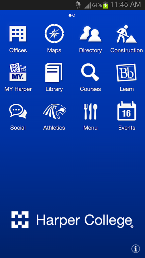 Harper College- screenshot