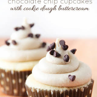 Chocolate Chip Cupcakes with Cookie Dough Buttercream.