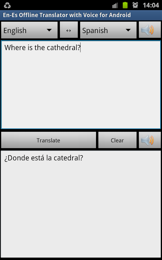 Offline Translator Spanish - screenshot