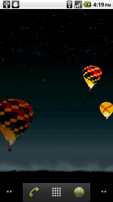 Night Glow Balloons LWP - screenshot