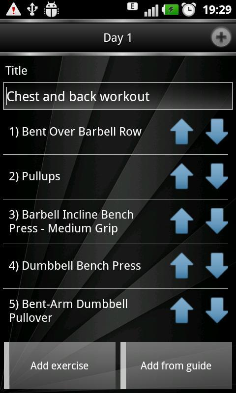 Gym Book: training notebook - screenshot