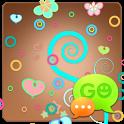 GO SMS Pastel Chocolate Theme icon