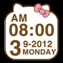 Cute Kitty clock Widget mobile app icon