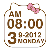 Cute Kitty clock Widget