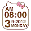 Cute Kitty clock Widget for Lollipop - Android 5.0