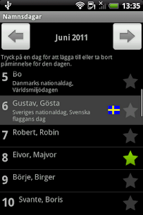 Namnsdagar- screenshot thumbnail