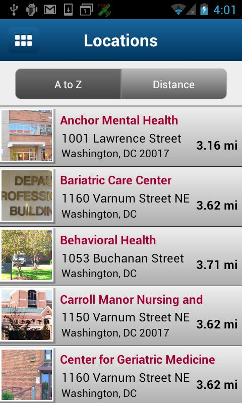 Providence Health System DC - screenshot