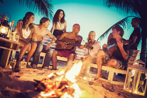 Curacao-beach-campfire - A lovely evening with good friends on one of Curacao's beaches.
