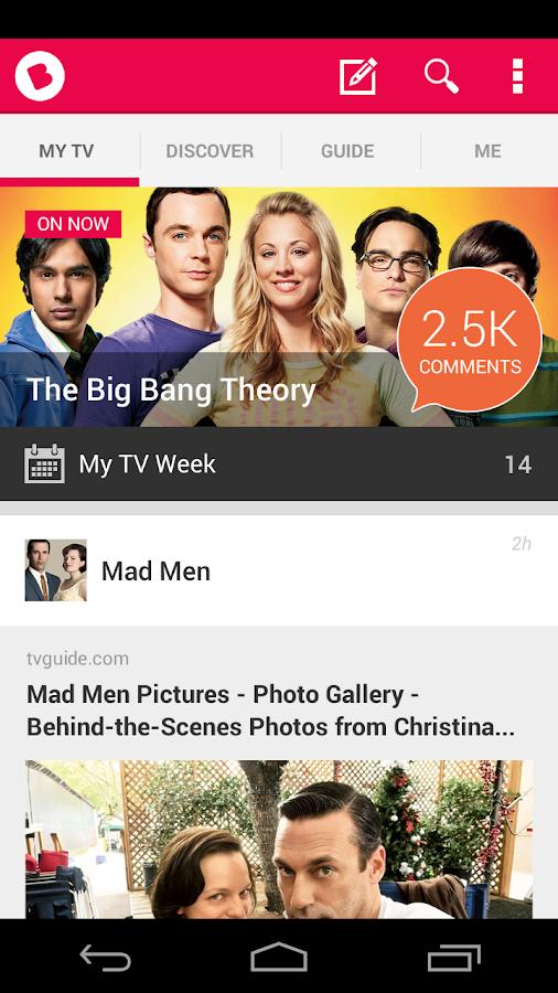 Beamly TV - by zeebox - screenshot
