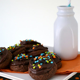 Frosted Chocolate Cupcake Tops Recipe
