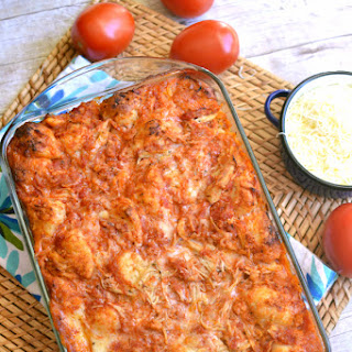 Chicken Parmesan Pull-Apart Bread.