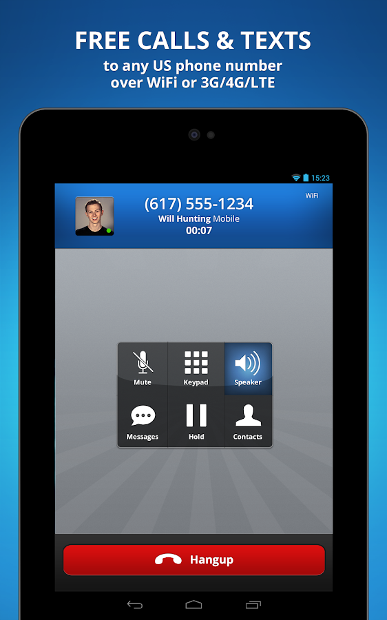 Talkatone free calls + texting - screenshot