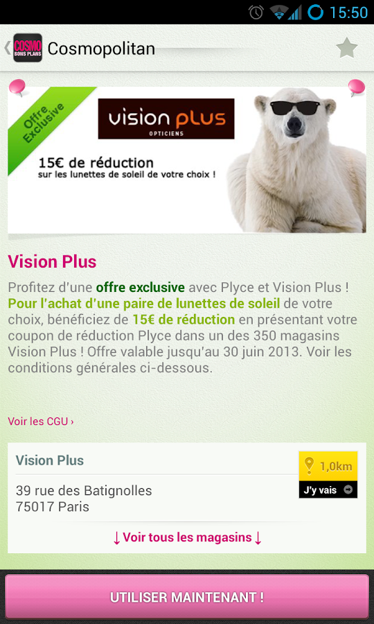 Cosmopolitan Bons Plans - screenshot