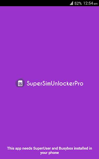 SuperSimUnlocker : sim unlock