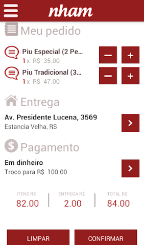 Screenshots for Nham  Pedidos e Reservas