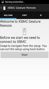 XBMC Gesture Remote - screenshot thumbnail