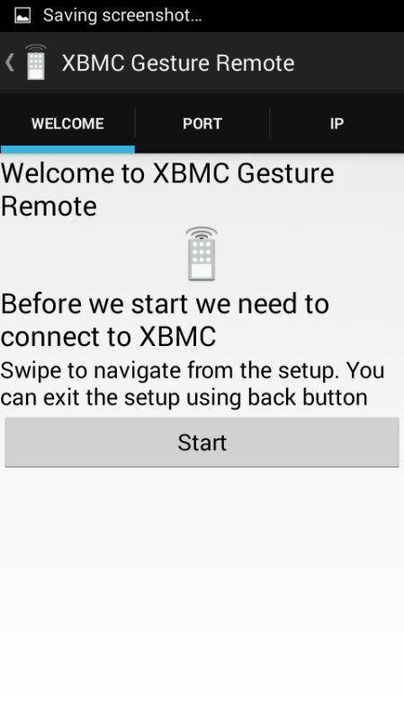 XBMC Gesture Remote - screenshot