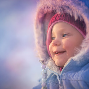 The Winter Queen by Niklas Jumlin - Babies & Children Child Portraits ( expression, little, travel, kid, exploring, story, availablestockimage, stock, cold, lifestyle, snow, wonder, action, beforedark, smile, light, fairytale, parenting, candid, happiness, girlhood, moments, portrait, milestones, magic, winter, naturallight, sonya7, natural, small, golden, face, babygirl, manualfocus, unique, moment, children, beauty, cute, playing, child, real, girl, happy, baby, crawling, stockphotographer, learning, shadows, wonders, discovering, naturalmoment, world, Travel, People, Lifestyle, Culture,  )