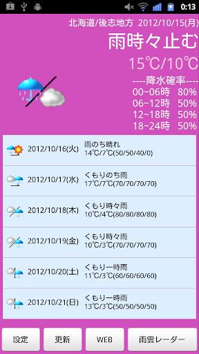 M Weather シンプルお天気)
