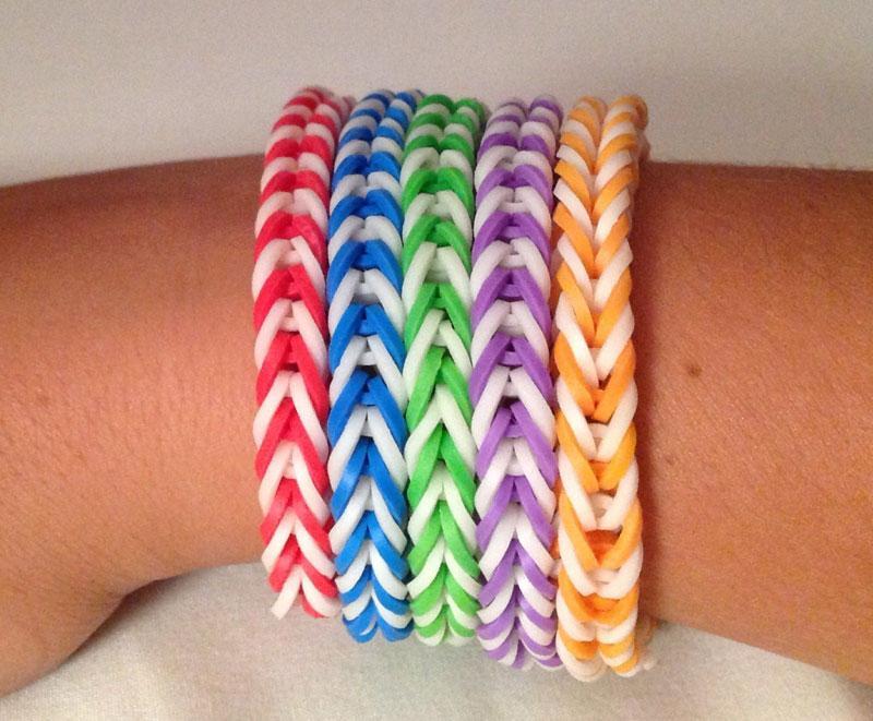 Fishtail Rainbow Loom Bracelet - screenshot