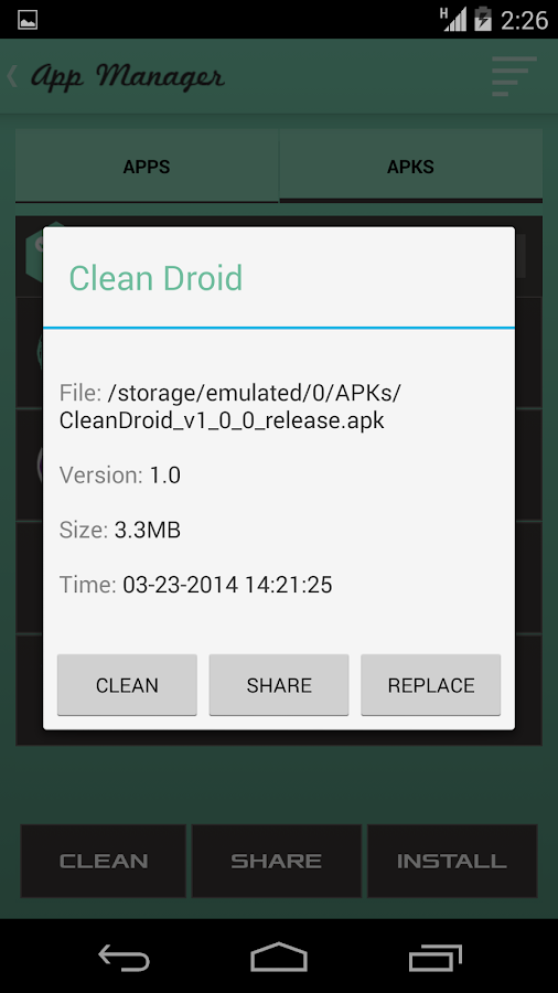 Clean Droid Deep Cache Cleaner- screenshot
