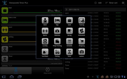 Tablet Timer & Stopwatch Pro Screenshot 3