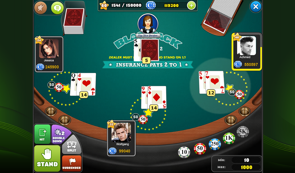 blackjack game app