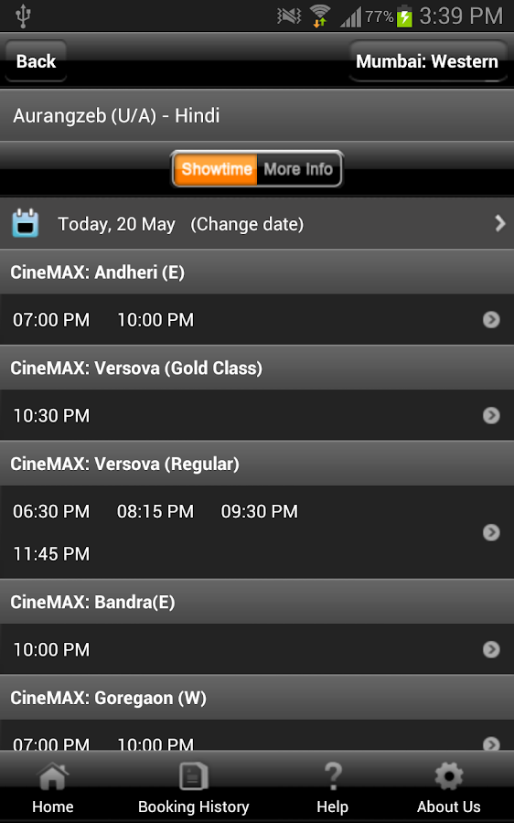 Cinemax India- screenshot