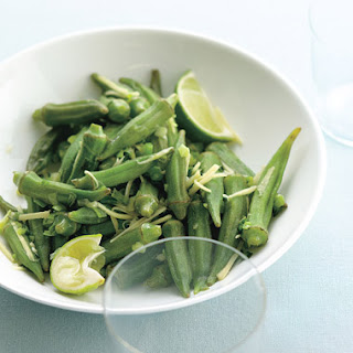 Okra with Scallion, Lime, and Ginger.